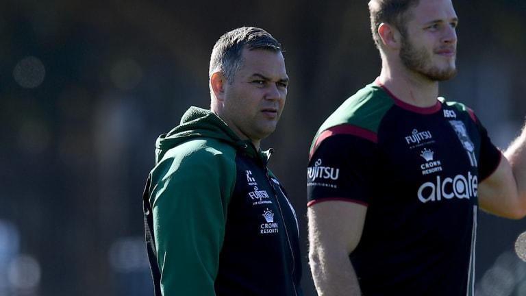 Persistent rumours: South Sydney Rabbitohs coach Anthony Seibold.
