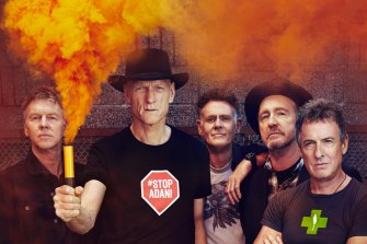 Midnight Oil in 2017 promoting their  The Great Circle tour.