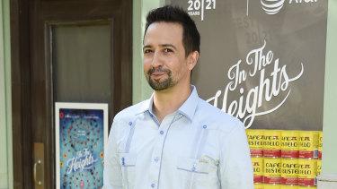 In the Heights creator Lin-Manuel Miranda at Tribeca's opening night.