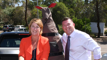 Nationals MPs Melinda Pavey and Dugald Saunders.