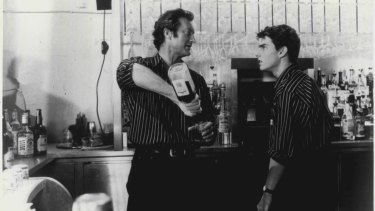 Bryan Brown (left) and Tom Cruise in Cocktail.