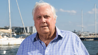 Clive Palmer pictured in November 2020.