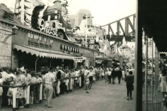 Sydney's Luna Park prior to the June 1979 fire which claimed the lives of seven people.