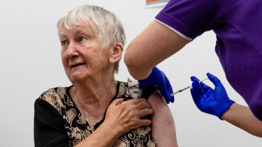 Jane Malysiak, then 84, was the first  Australian to receive a COVID-19 vaccination back in February.