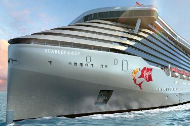 Artist's impression of Virgin Voyages' new ship Scarlet Lady