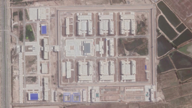 Satellite image of a detention camp in Xinjiang, China, September 2020.