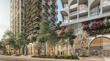 The amended plan for a high-rise development on Stirling Highway has been revised from four towers to three in the City of Nedlands.