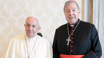 Pell returns to the Vatican for a private audience with Pope Francis