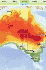 Queensland's heatwave is expected to peak on Sunday.