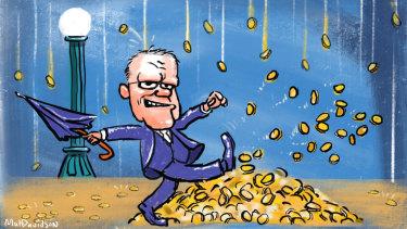 Prime Minister Scott Morrison is headlining a fundraiser on the same day as Labor leader Bill Shorten. Illustration: Matt Davidson