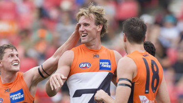 Welcome back: Lachie Keeffe has been recalled to the GWS Giants team.