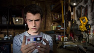 In the series, Clay Jensen finds cassette tapes left by dead teenager Hannah Baker.
