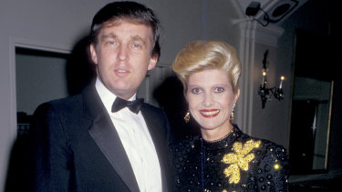 Donald Trump with first wife Ivana at a New York party.
