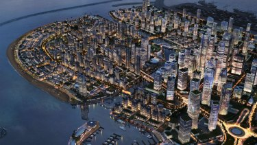An artist's impression of the Port City Colombo project.