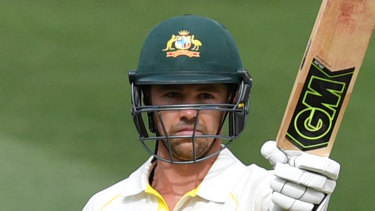 Milestone: Travis Head reaches 50 in his first Test innings in Australia.