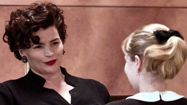 Julia Ormond (left) and Angourie Rice in Ladies in Black: they are among 11 nominations for the film at the Australian Cinema and Television Arts Awards.