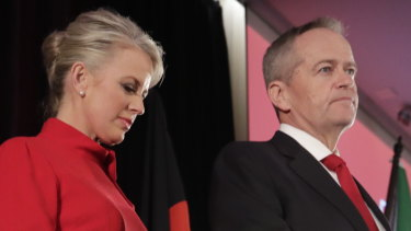 """""""I wish we could have done it for Bob [Hawke]"""": Bill Shorten gives his concession speech late on Saturday night."""