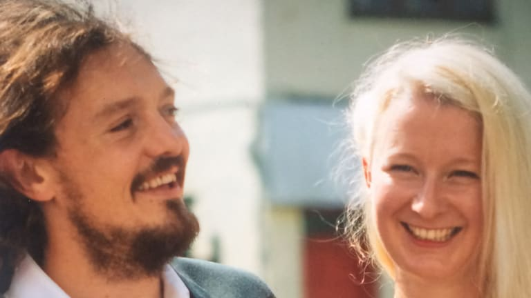 Mike Hall and Anna Haslock in 2016.