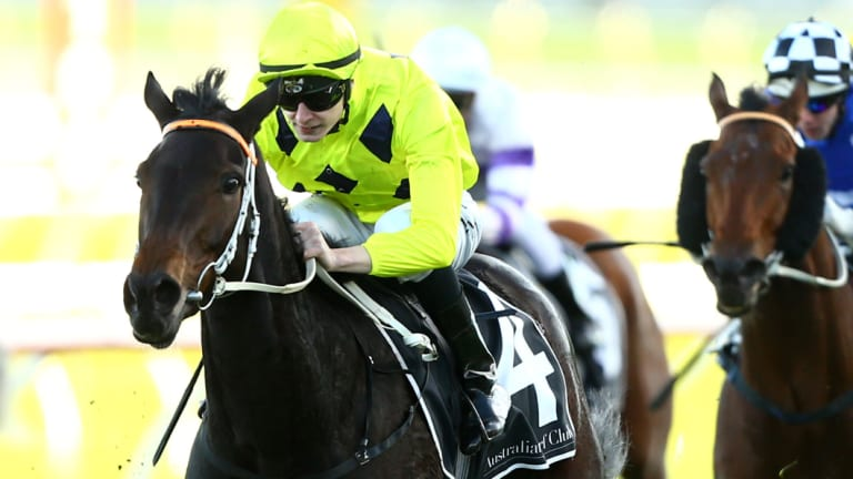 Swan song:  Danish Twist  wins  the June Stakes at Randwick in 2016.