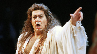 Placido Domingo performs in the San Francisco Opera's production of Herodiade in 1994.