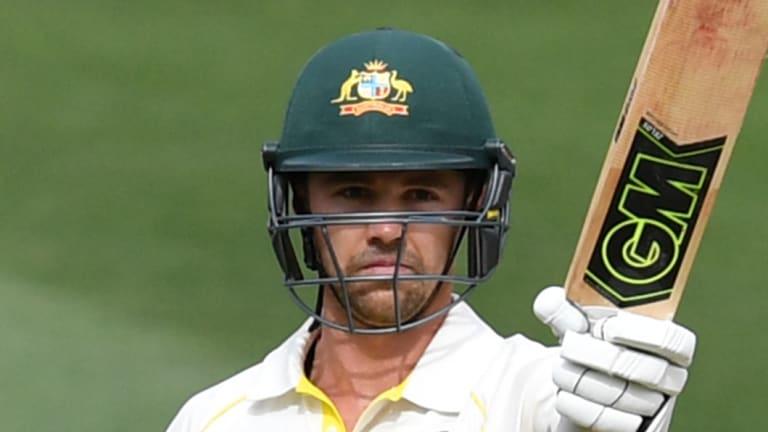 Milestone: Travis Head reaches 50 in his first Test innings in Australia.