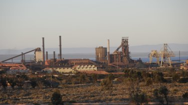 The Whyalla steelworks before it went into administration.