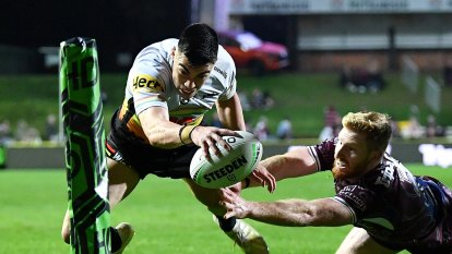 Staines bags another double as Penrith run riot against Manly