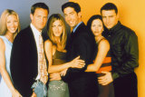 Friends with benefits: the cast of the hit '90s TV comedy series got together earlier this year for $US2.5 million each.