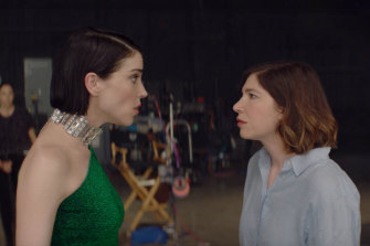 St Vincent (left) and Carrie Brownstein star in The Nowhere Inn, a 'psycho-thriller music mockumentary', screening in MIFF Play.