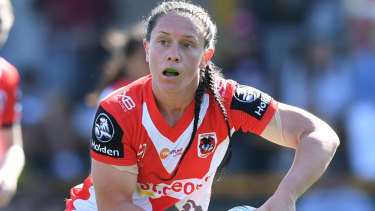 """""""We were our own worst enemies"""": Dragons hooker Brittany Breayley."""