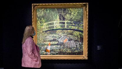 'Show me the Monet': Banksy artwork fetches $13.9 million at auction
