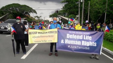 Christians protest against the Philippines' anti-terrorism laws, passed in June.