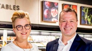 Brooke Miller, Vice-President Sales and Marketing BP and Pieter de Wet, Managing Director David Jones Food.
