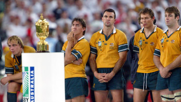 Agony and ecstasy: Australian hearts broke in the 2003 Rugby World Cup final against England.