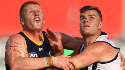 'Had a mare': Crows ruckman O'Brien sorry for tweeting pre-game plan for Nic Nat