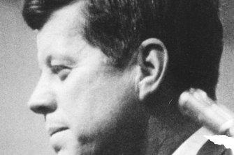 John F. Kennedy in Robert Drew's 1960 documentary Primary (1960).