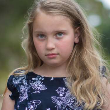 Poppy Carson was bitten by a tiger snake.
