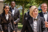 Doctor Who (Jodie Whittaker) and her companions don't take themselves too seriously.