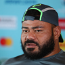 Tolu Latu lashed out at a reporter on Monday for asking a question about Michael Cheika.