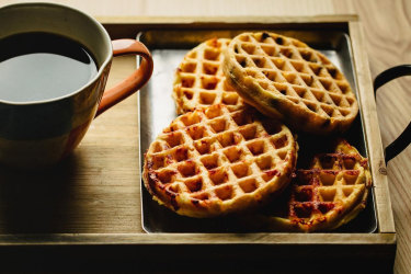 Chaffles are a flourless version of waffles.