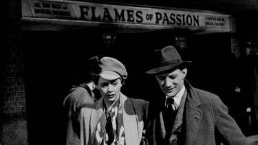 Celia Johnson and Trevor Howard emerge from an afternoon at the cinema in Brief Encounter.