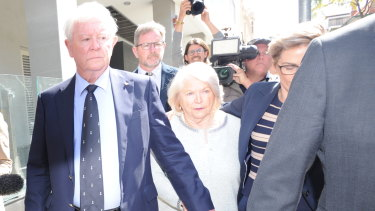 Dennis and Una Glennon leave court after Bradley Edwards was convicted of murdering their daughter Ciara Glennon.