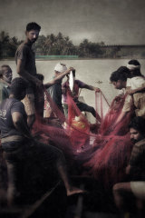 The photograph of Indian fishermen that rejuvenated Mike Rutherford's love of photography.
