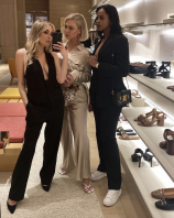 Celebrity fashion shopper Gab Waller, bikini designer Bianca Elouise and Sabrina Elba standing proud at the Veuve Clicquot party.