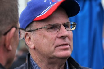 Banned for life: Trainer Robert Smerdon was disqualified for his part in the Aquanita doping scandal.