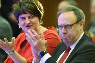 DUP deputy leader Nigel Dodds, pictured alongside DUP leader Arlene Foster, has openly questioned the likelihood of a Brexit deal.