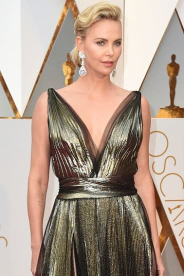 Theron at the Oscars in February 2017.