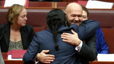 Mehmet Tillem, pictured after his valedictory statement in the Senate in 2014, has died aged 45,