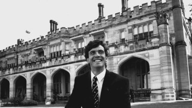 A 21-year-old Attila Brungs as the 1993 Rhodes Scholar.