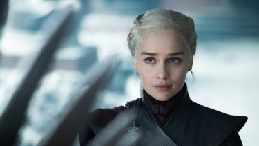 Emilia Clarke in Game of Thrones.